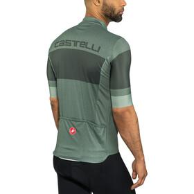 Castelli Ruota Maglietta jersey con zip frontale Uomo, sauge green
